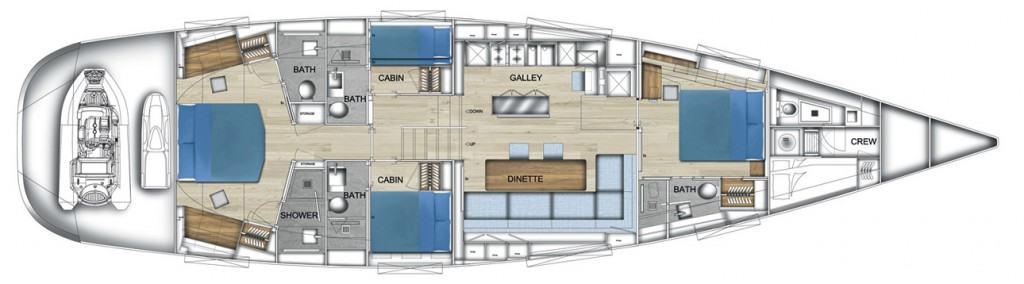 Admiral Silent 76 layout