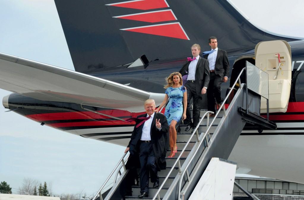Donald J. Trump onboard  Boeing 757