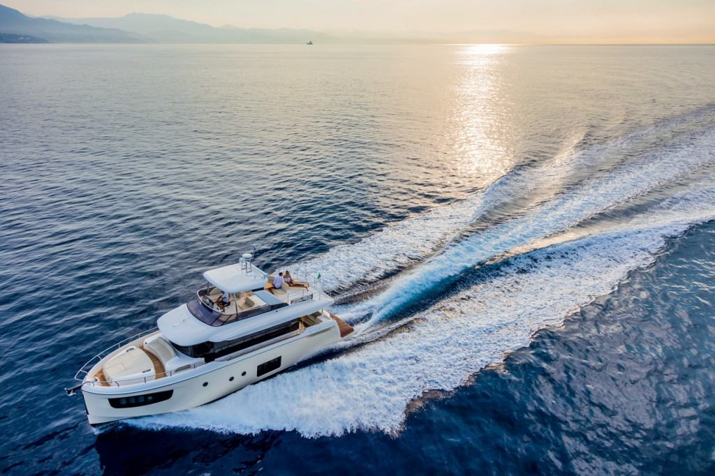 This is a photography of Italian yacht
