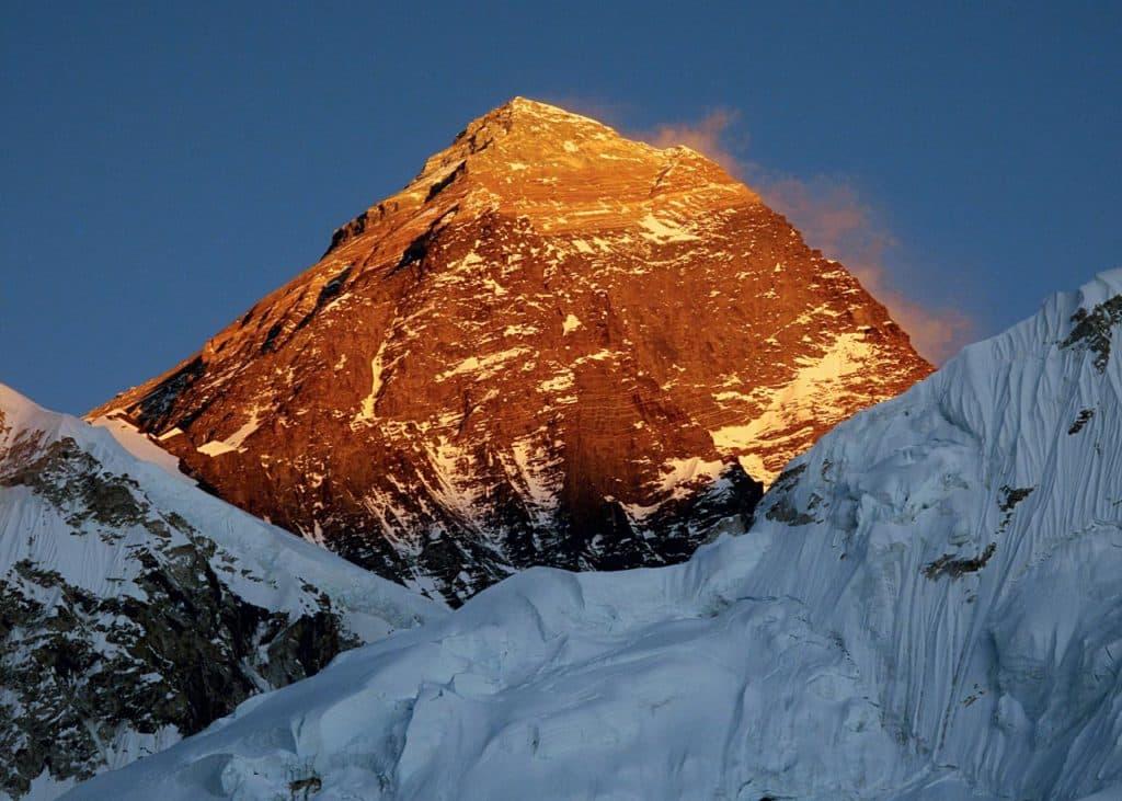 Mt Everest At Sunset By Mekh Paija