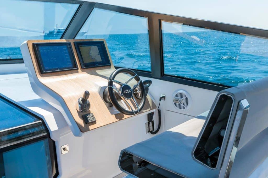 Evo Yachts Teak Control Panel