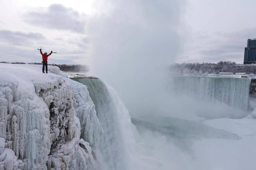 Gadd at Frozen Niagara Falls