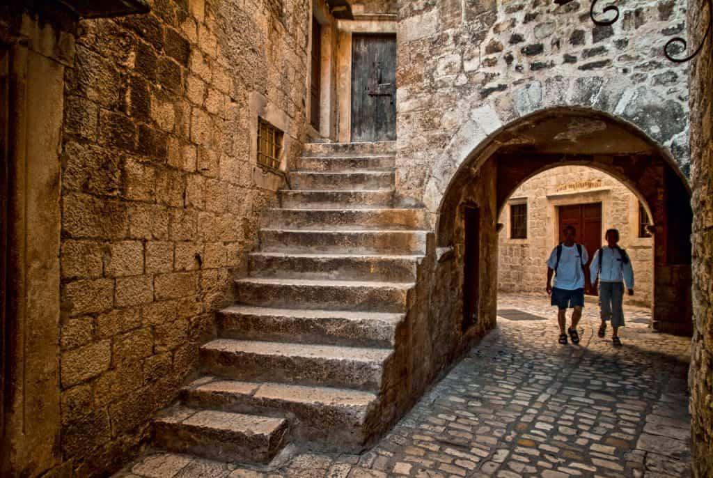 This is photo of Trogir streets
