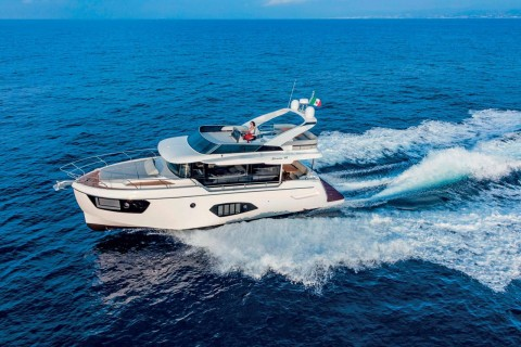 This is photo of a new Absolute Navetta 48 runnings