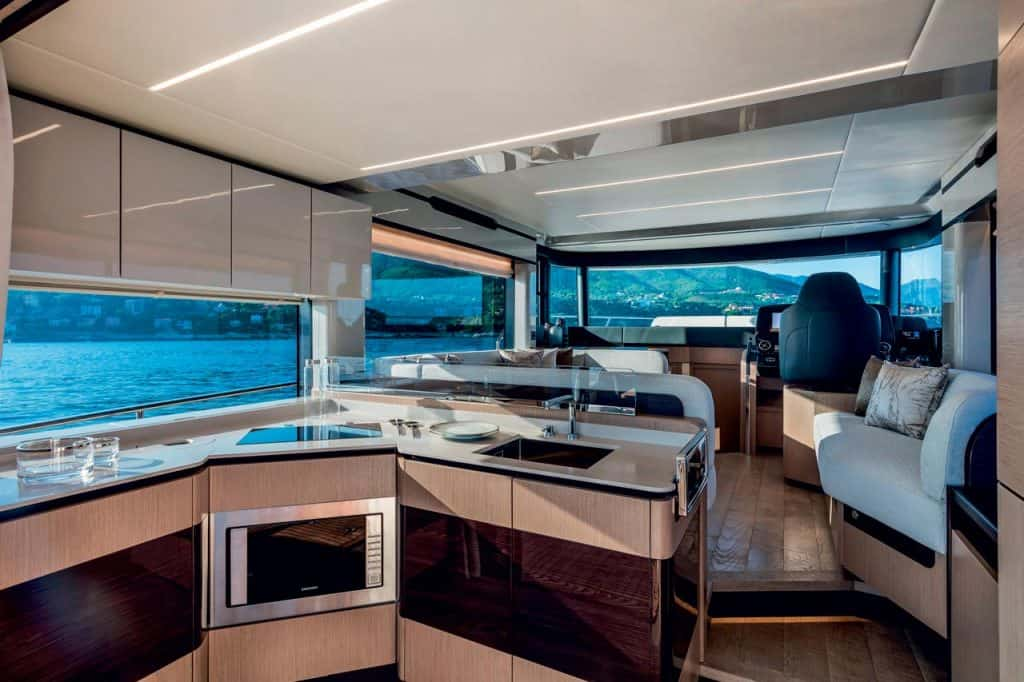 This is photo of a Navetta 48 kitchen