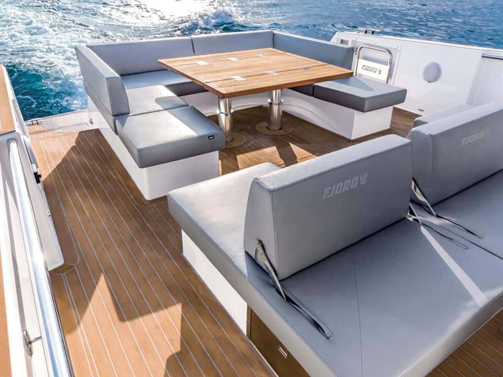 This is a photography of Fjord 52 Open exterior