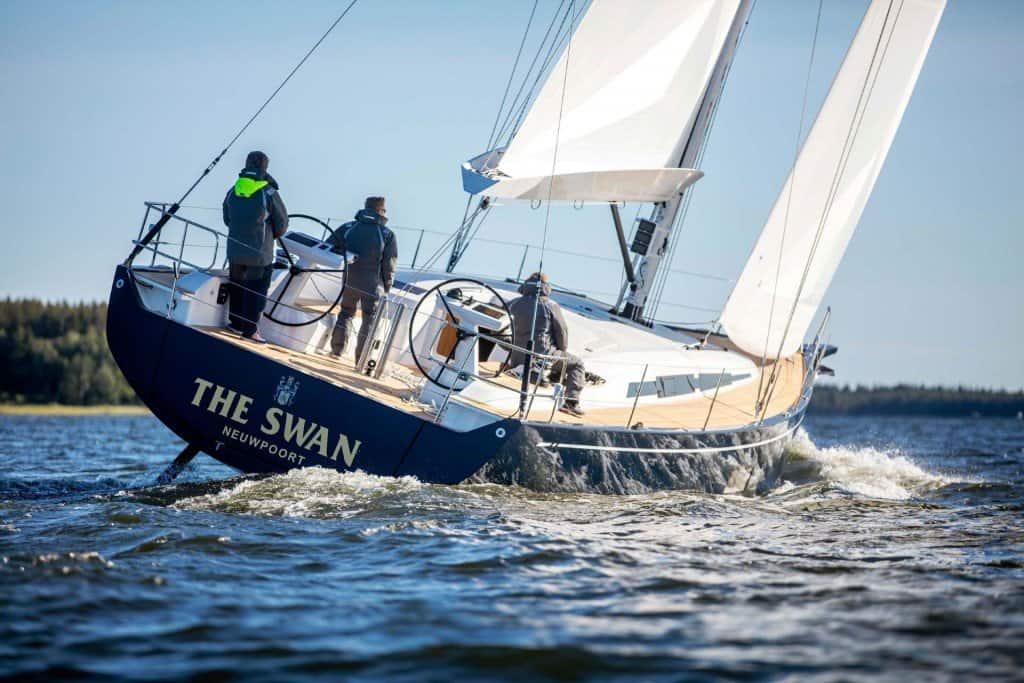 Swan 48 Sailing Back View 00