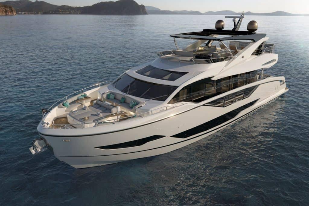 This is a photograph of Sunseeker 90 Ocean
