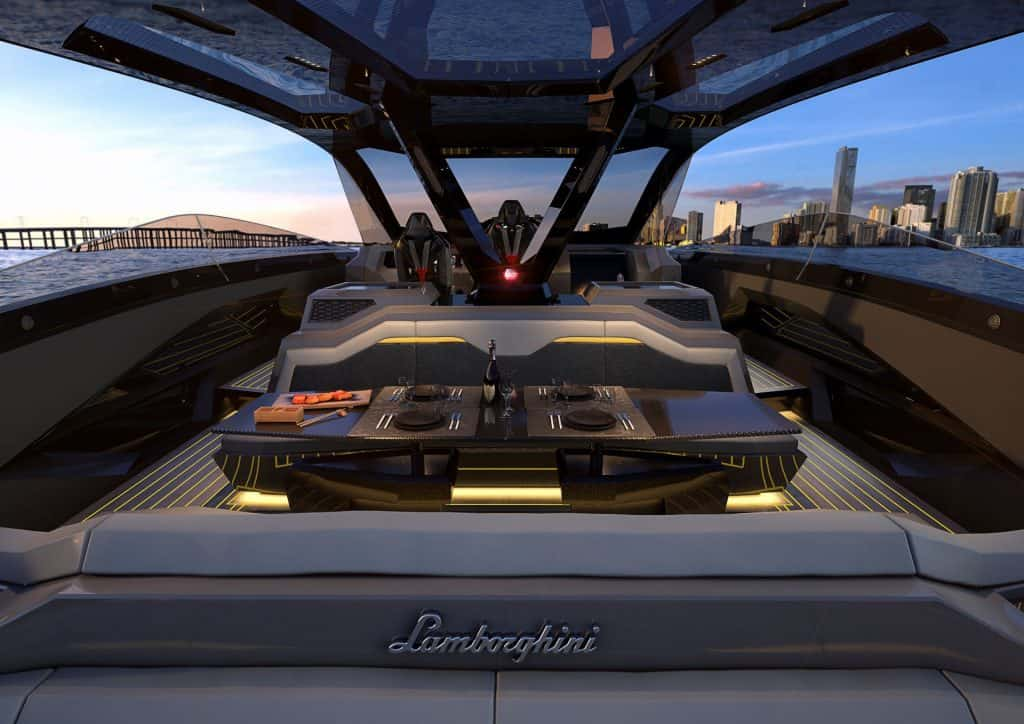 Boat Lamborghini Dinner Table 01