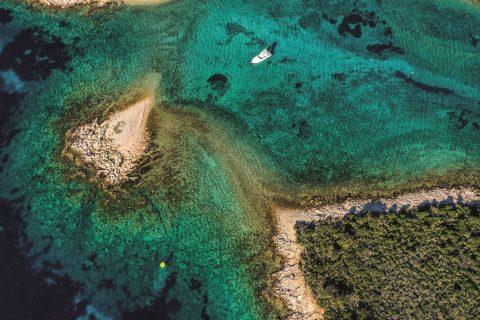 Lagoon In Split archipelago