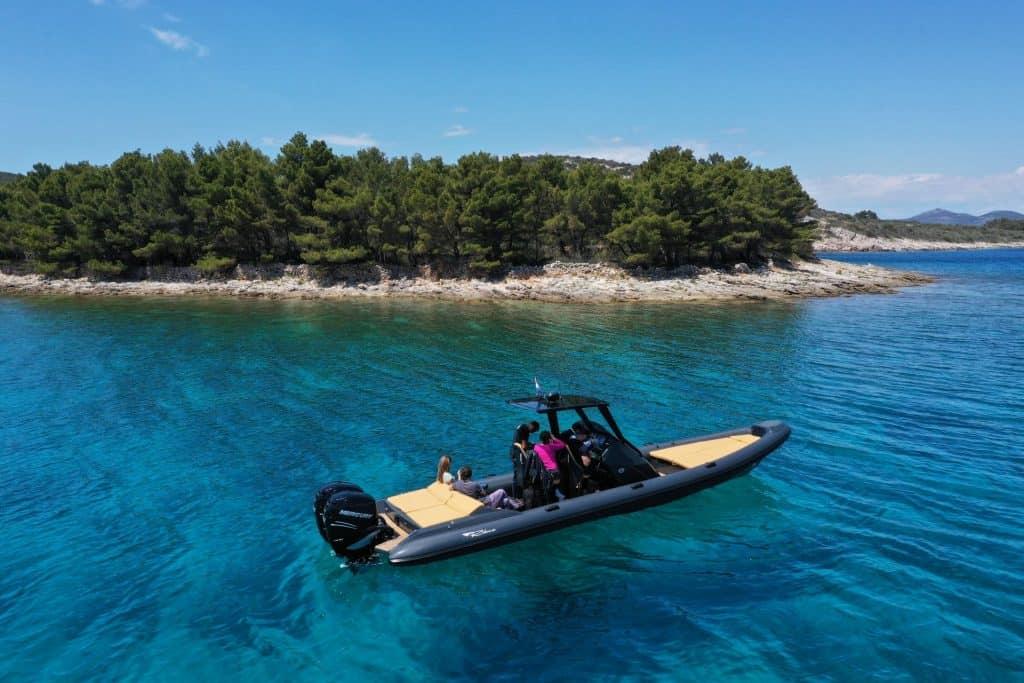Boat Near Croatian Island 01