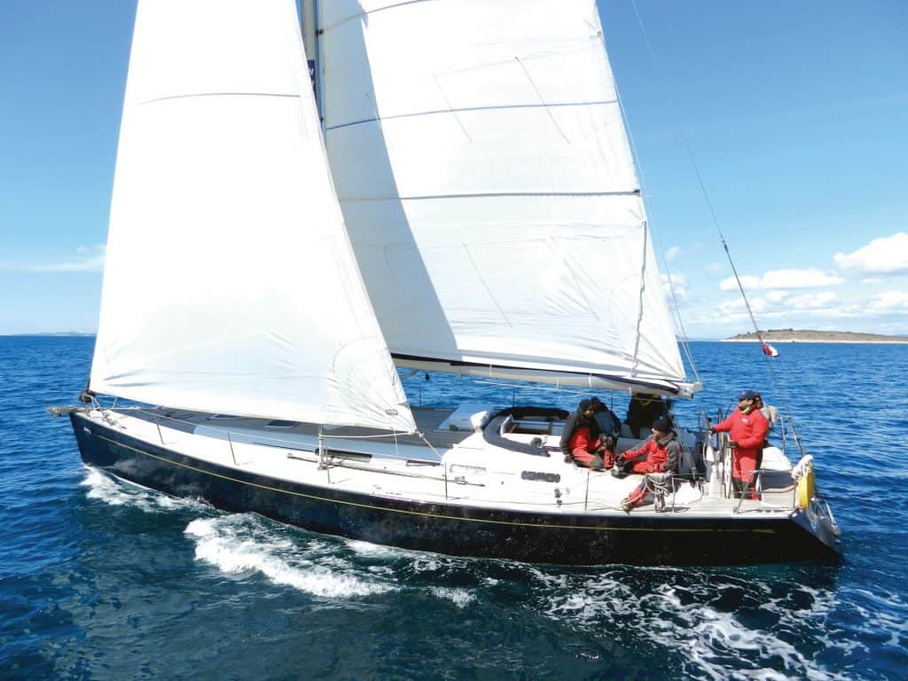 sailing in Adriatic