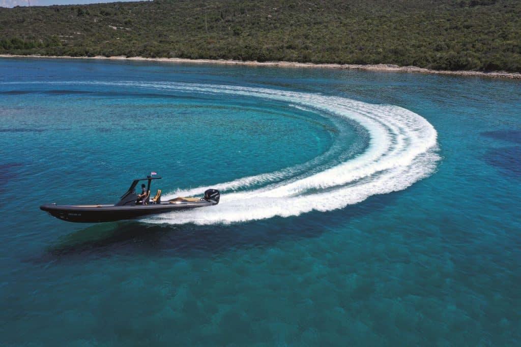 rubber boat in Croatia