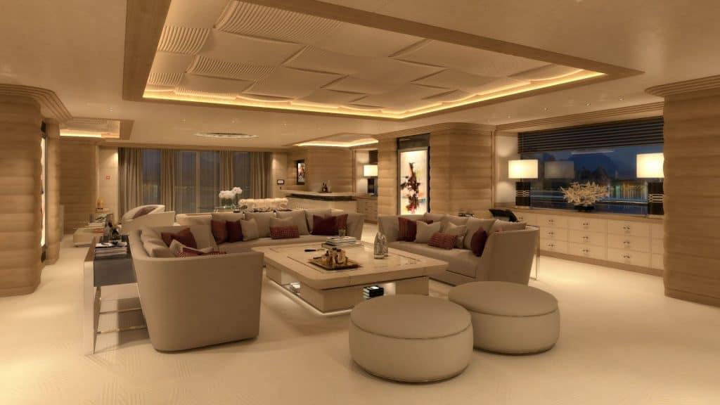 Italian superyacht Main Deck Salon 01