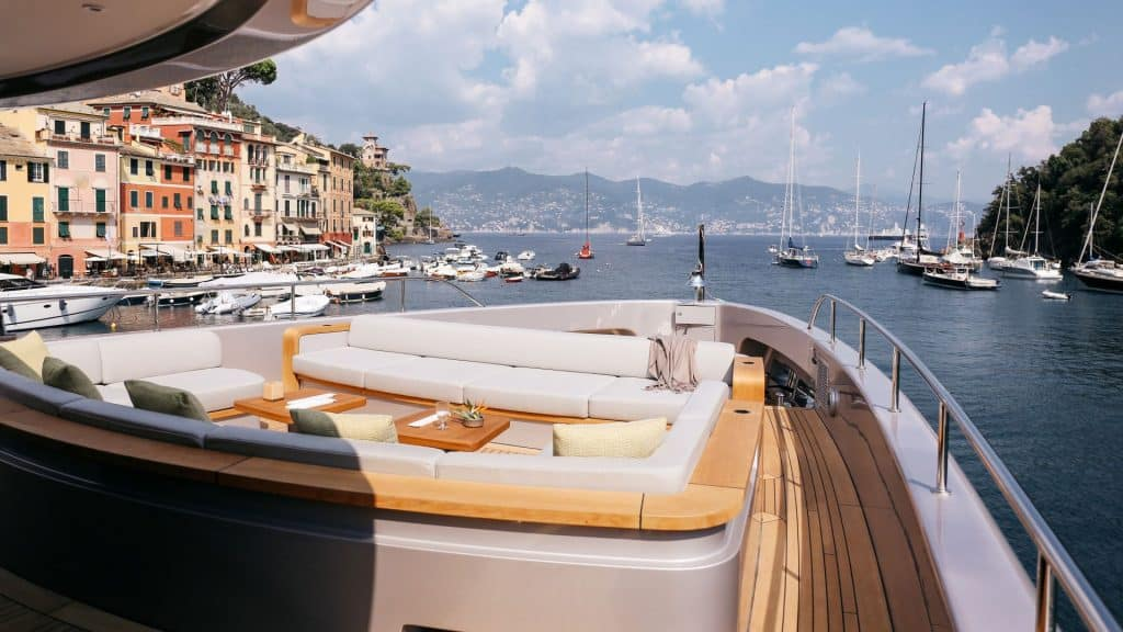 Italian yacht in Portofino