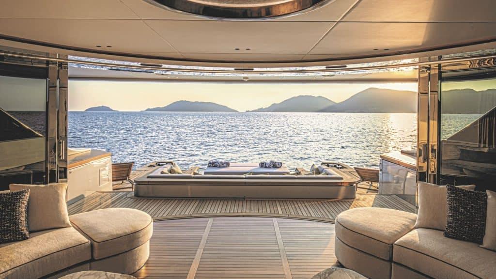 Yacht sea view