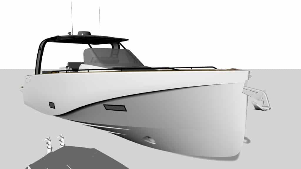 Heron Yacht 38 Render Front View 01