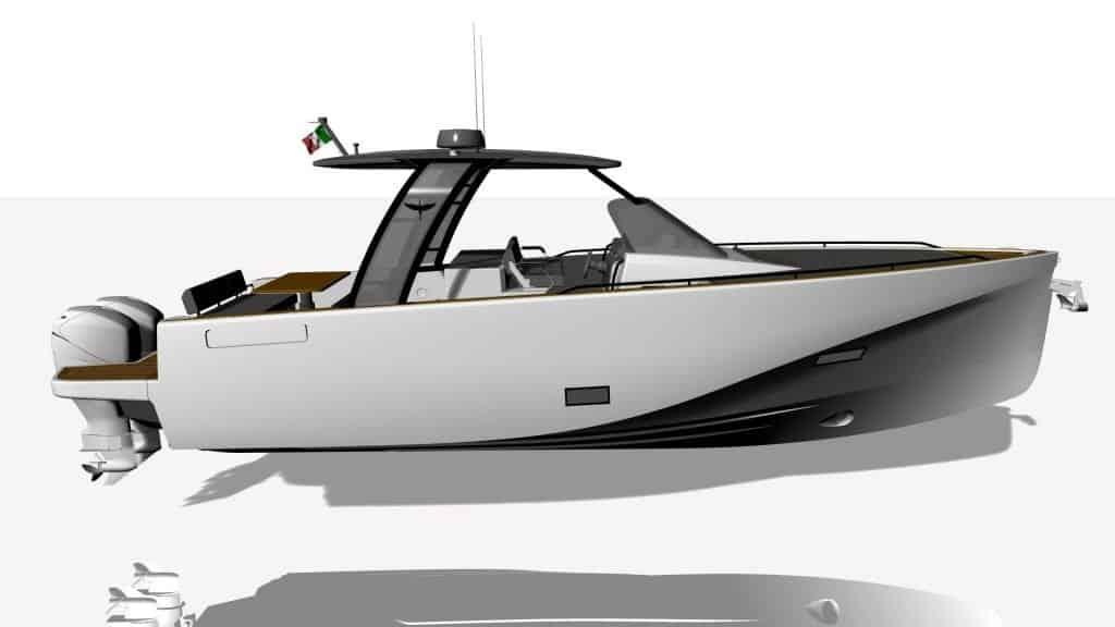 Heron Yacht 38 Render Side View 01