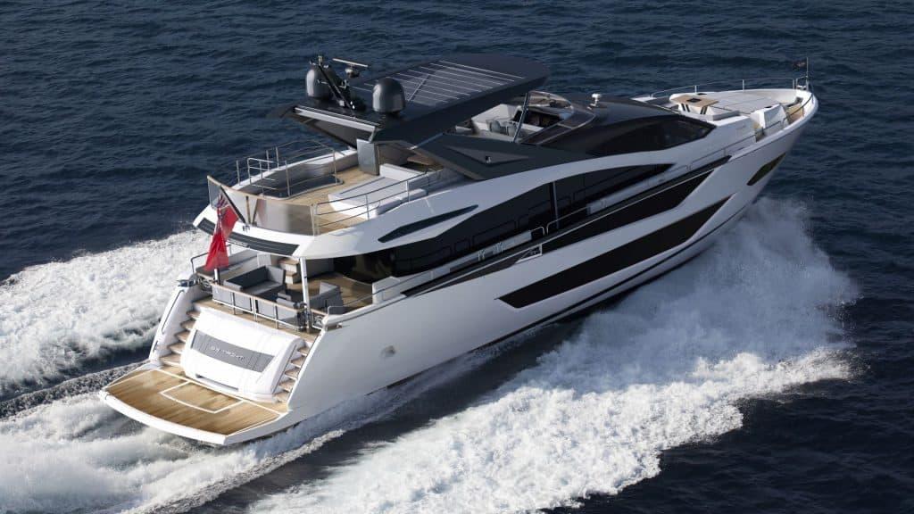 New Sunseeker 88 Yacht Rear View 01