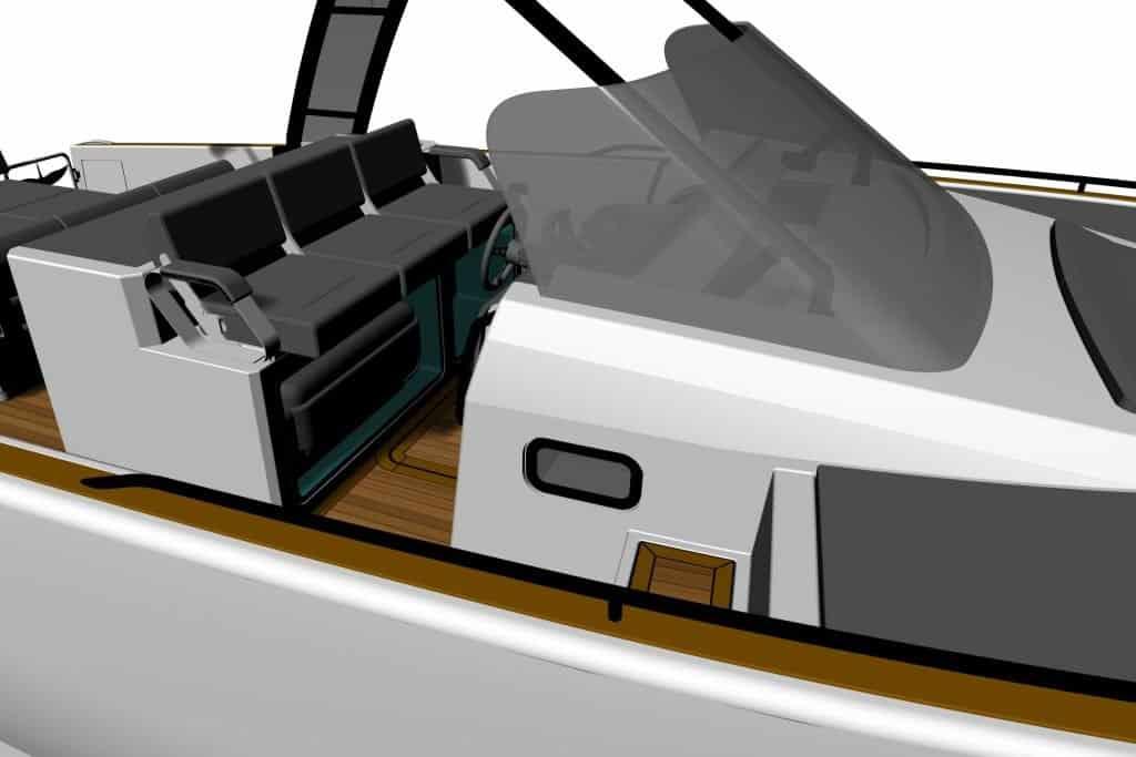 Italian boat render