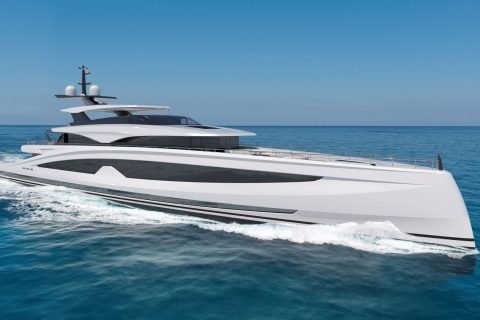 This is a photograph of a Heesen Project Sparta