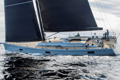 Swan 78 Sailing Side View 01