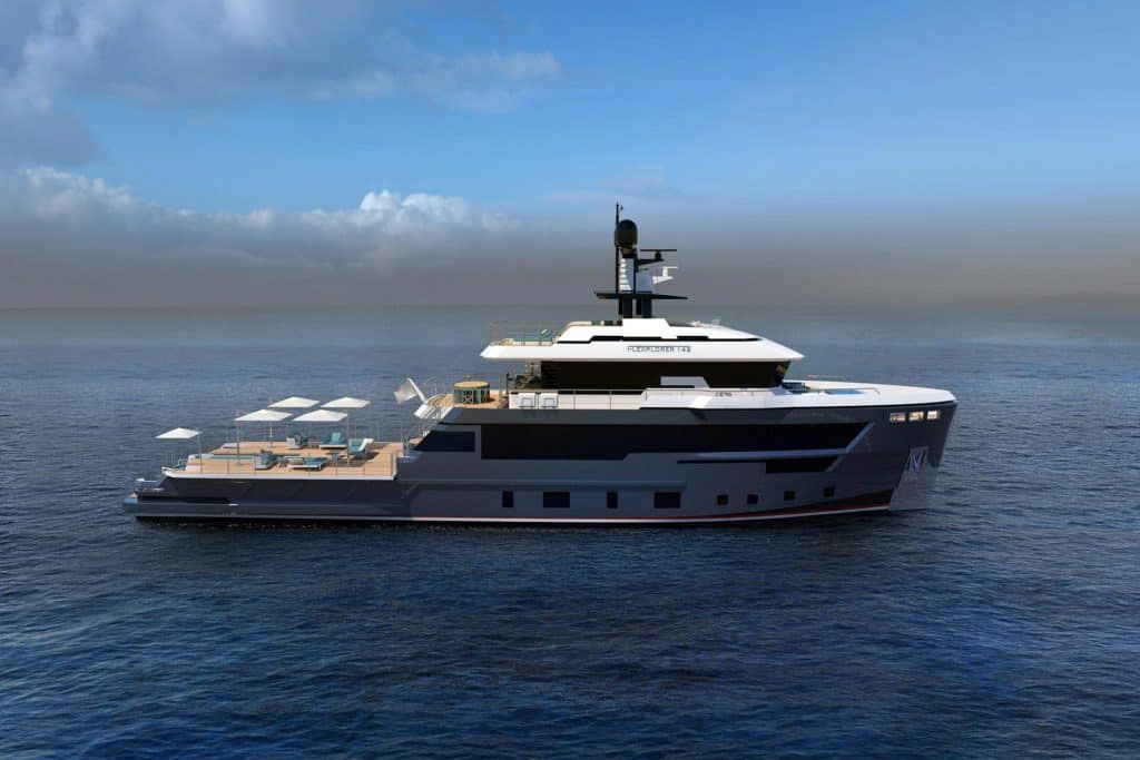 This is photo of a Cantiere Delle Marche Flexplorer 142 Sideview