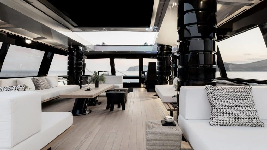 This is photo of a Alia Atlantico 27m On Deck