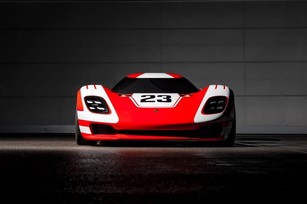 This is a photograph of a Porsche 917 Living Legend Front View 01