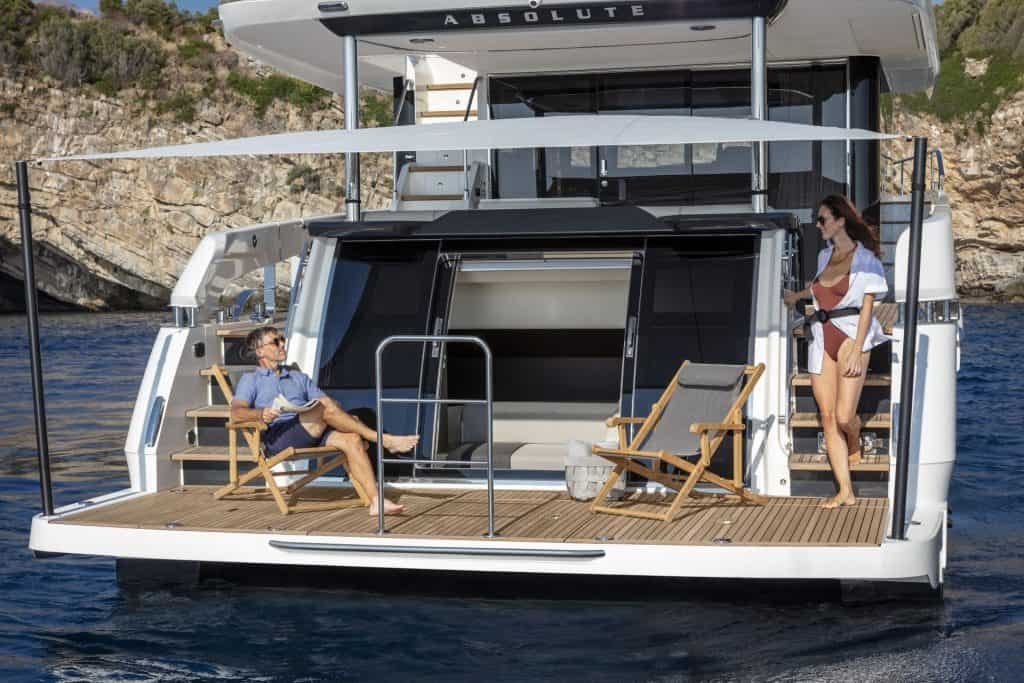 This is a photography of a Absolute Navetta 64 Beach Club