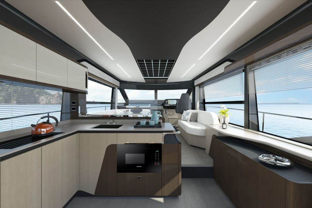 This is a photography of a Absolute Yachts 48 Coupe Salon 01