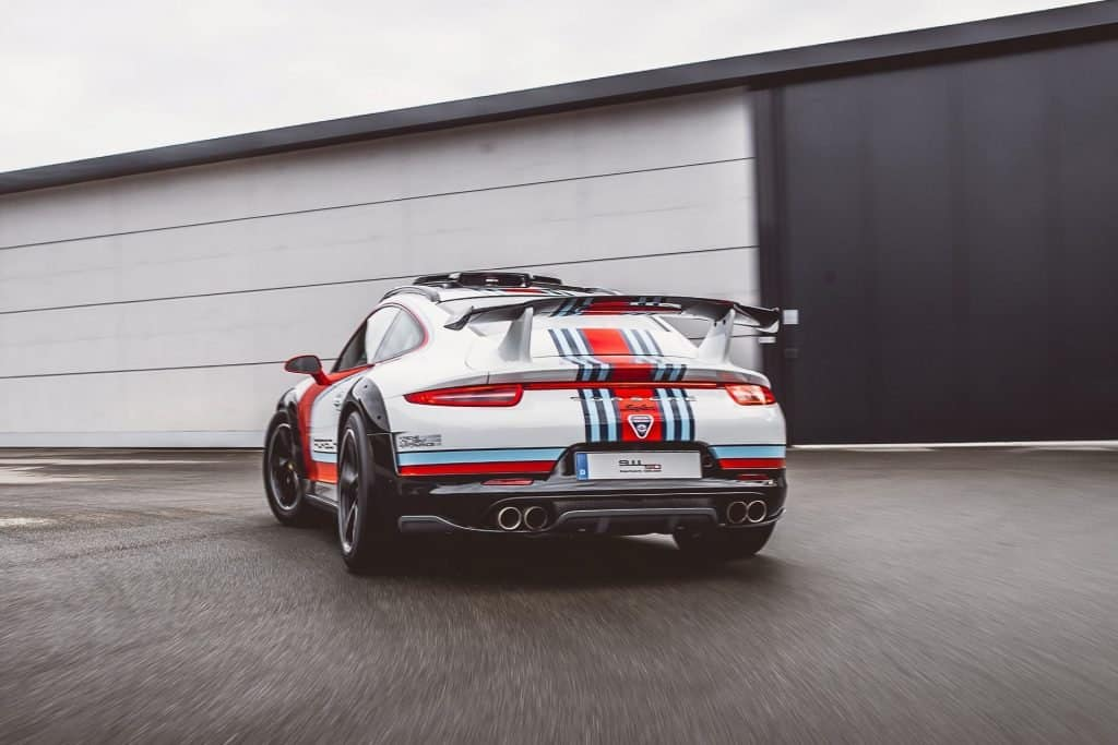 This is photograph of a Porsche Vision Safari Back View 01