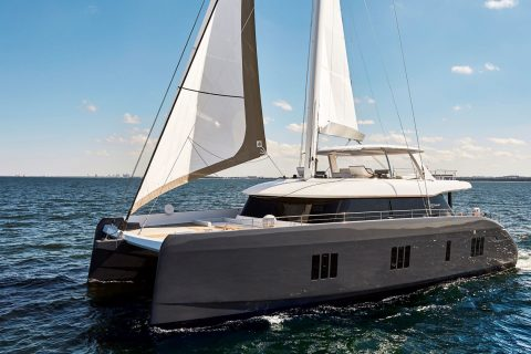 This is a photograph of a Sunreef 80 Catamaran Cruising 01