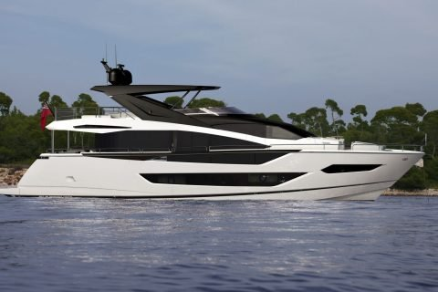 This is a photograph of Sunseeker New Models 88 Yacht