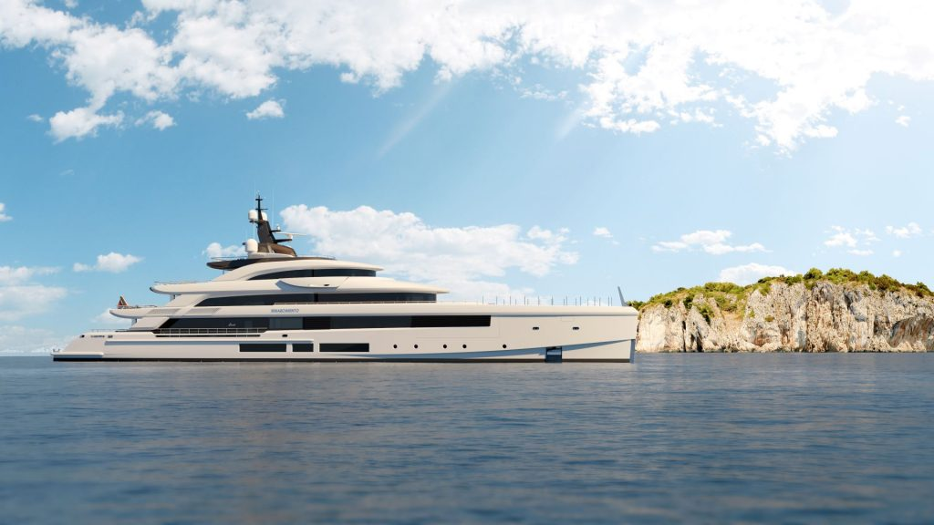 This is a photography of Benetti FB 284 Side View 01