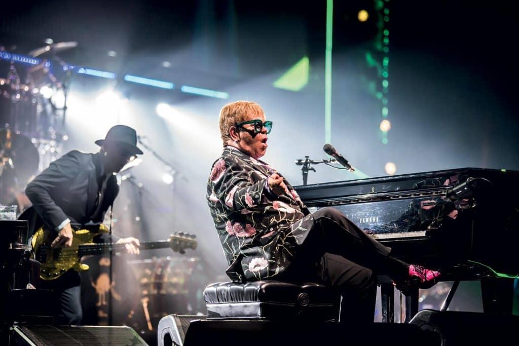 This is photo of a Elton John Philadelphia Show