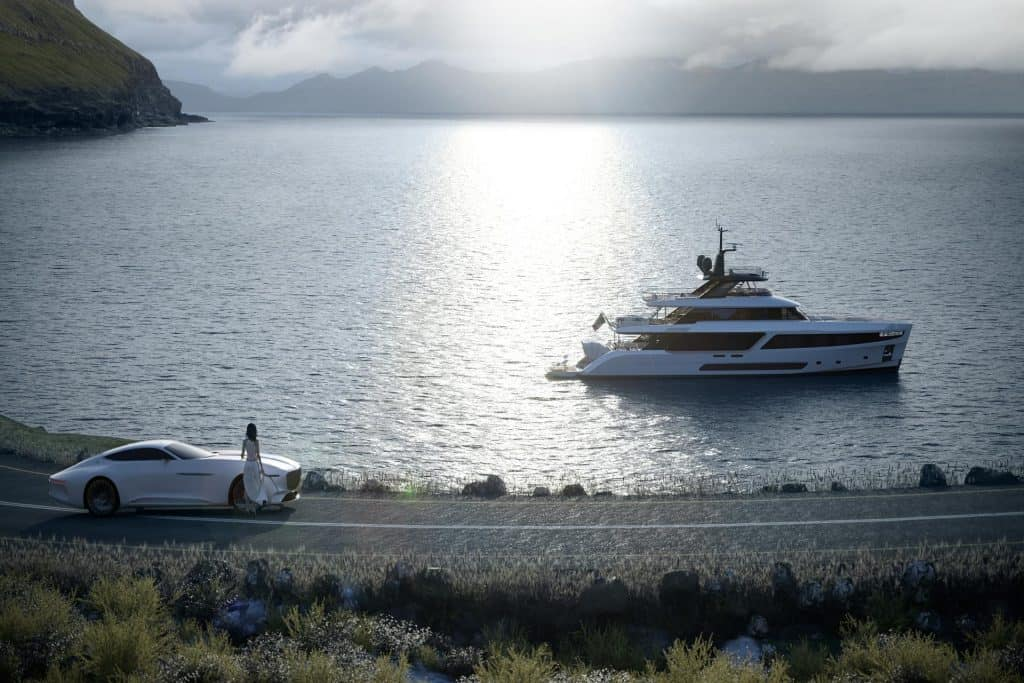 This is photo of a New Benetti Motopanfilo 37M Cruising