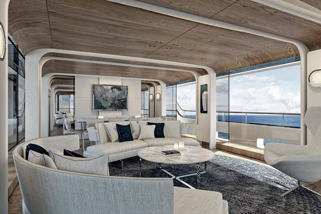 This is a photo of a New Benetti Motopanfilo 37M saloon