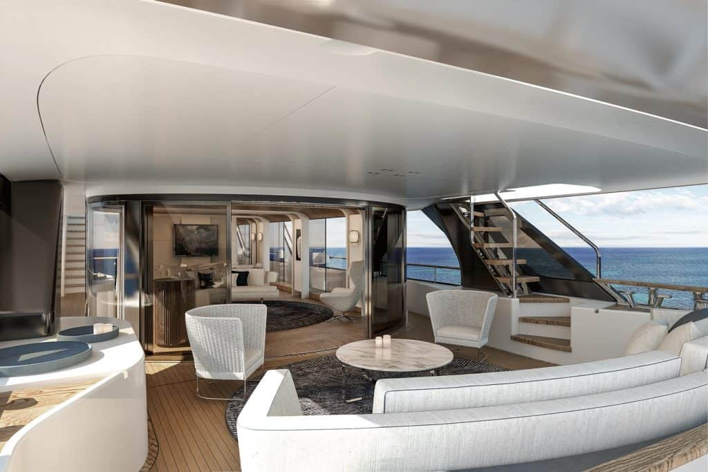 This is photo of a New Benetti Motopanfilo 37M Interior