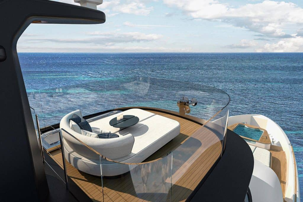 This is a photo of a New Benetti Motopanfilo 37M Sundeck 06