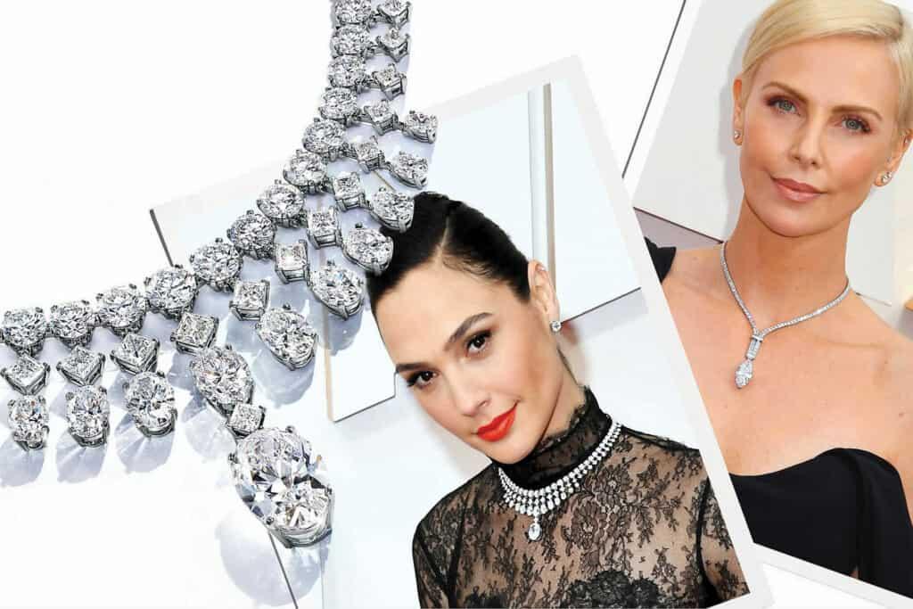Ovo je fotografija Charlize i Gal s iffany nakitom