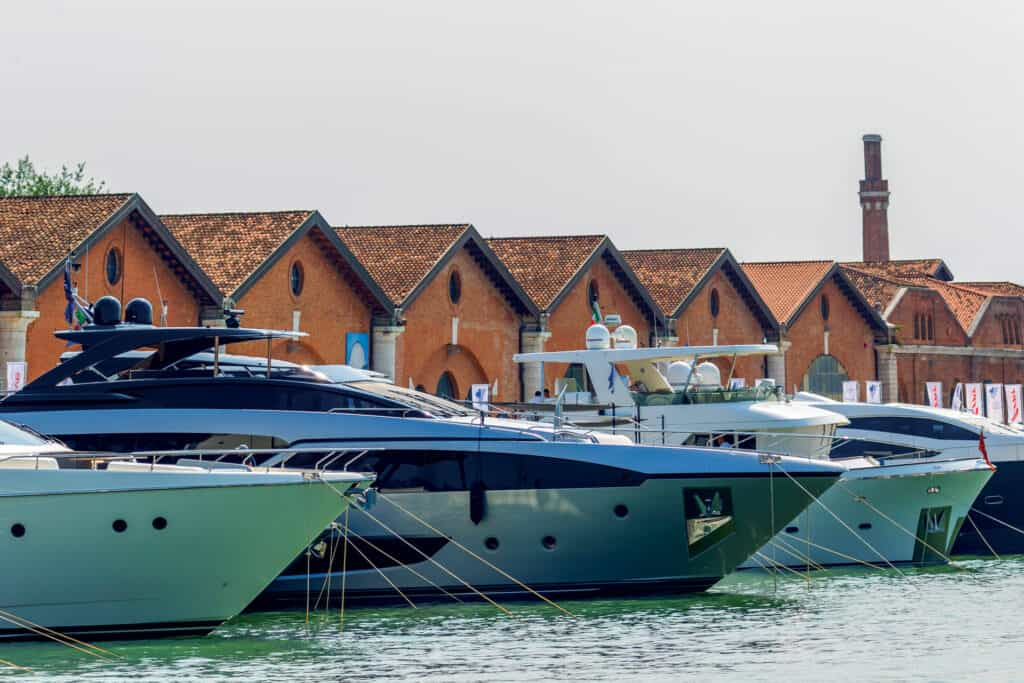 This is photo of a Venice Boat Show Boats At Marina