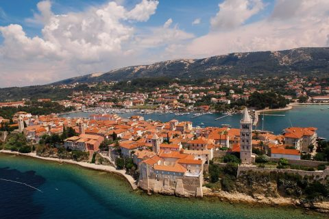 This is a photography of Town Of Rab Panoramic View