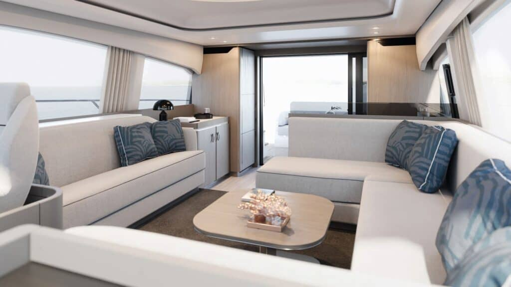 This is a photography of Azimut 53 interior