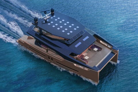 This is photo of a Ocean Eco 90 cruising