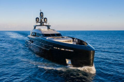 This is photo of a Tankoa Olokun superyacht