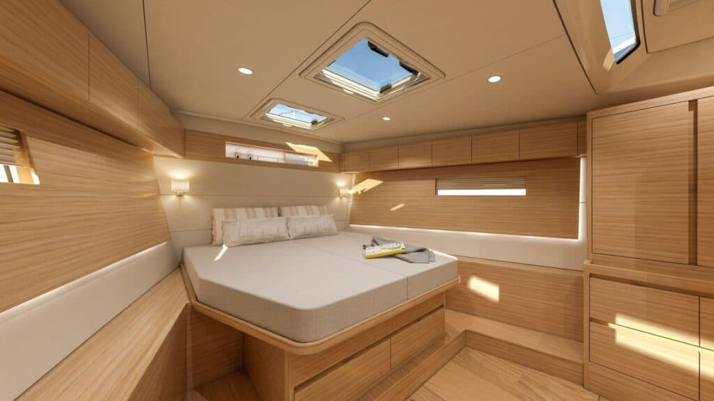 This is a photography of X56 forward cabin