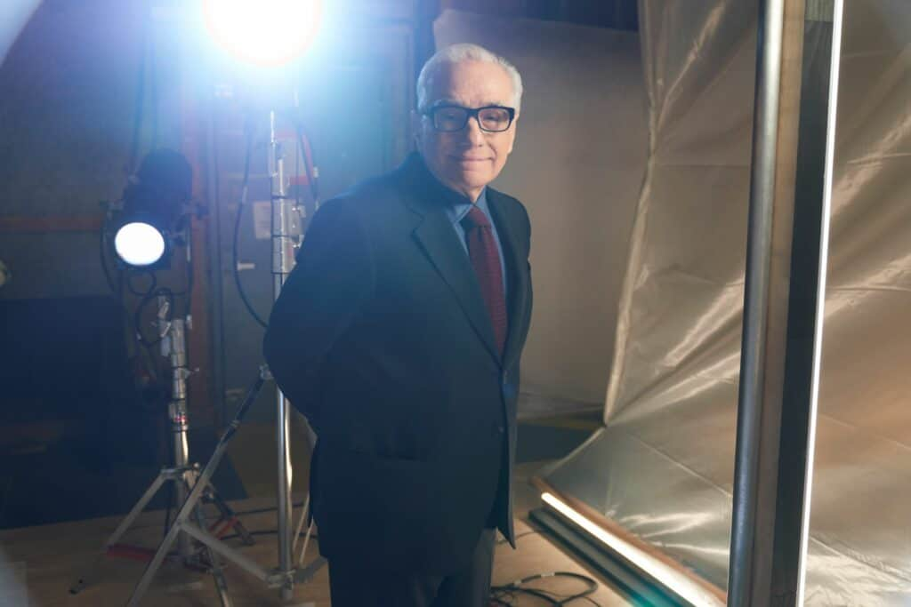 This is a photograph< of movie director Martin Scorsese