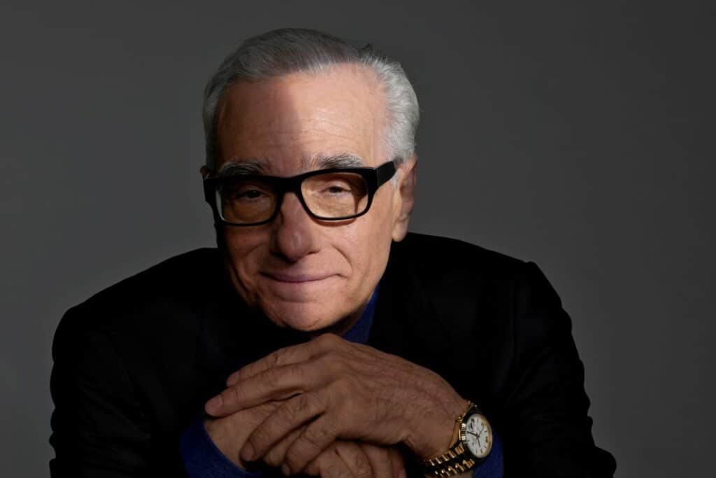 This is a photography of film director Martin Scorsese