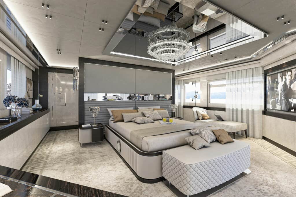 This is photo of a Numarine 37XP master cabin